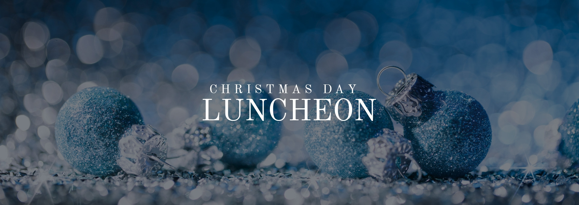 Christmas Day Luncheon Banner