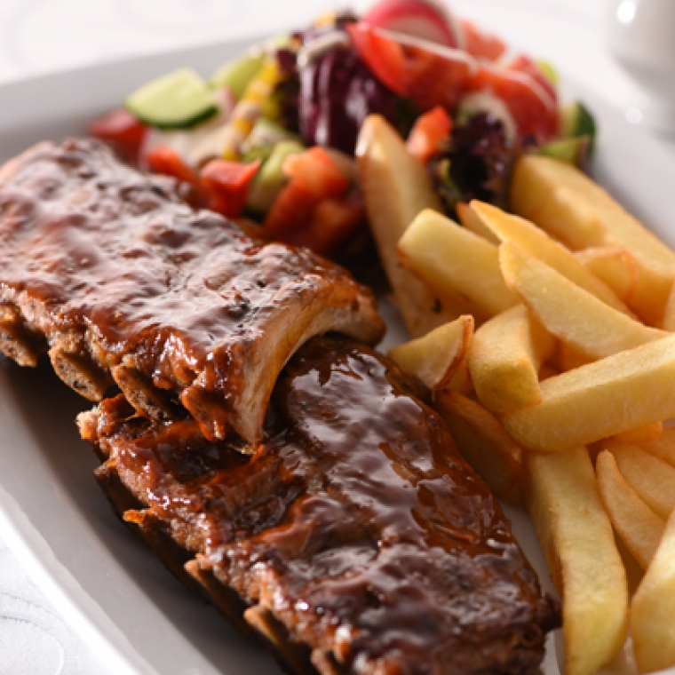 BBQ ribs at the Durrant House Hotel