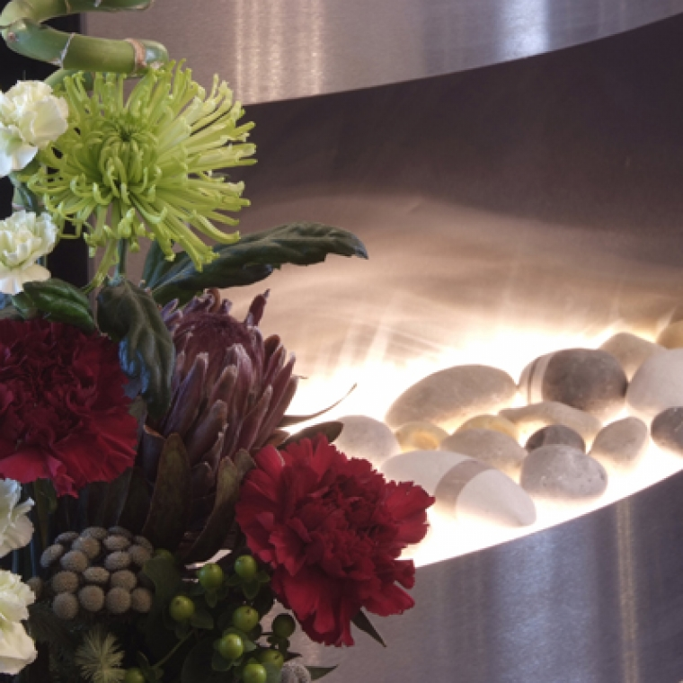 Flowers Upon Arrival in the Appledore Suite at The Durrant House Hotel located in sunny devon