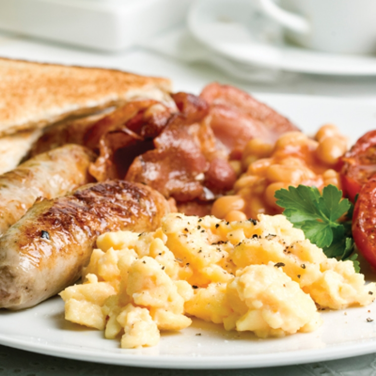 A full english breakfast at the Durrant House Hotel