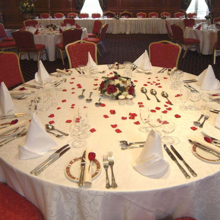Wedding dining area at the Durrant House Hotel